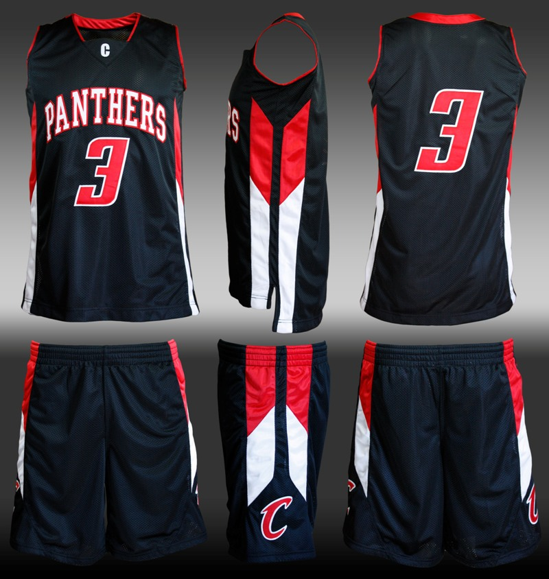 basketball jersey black red