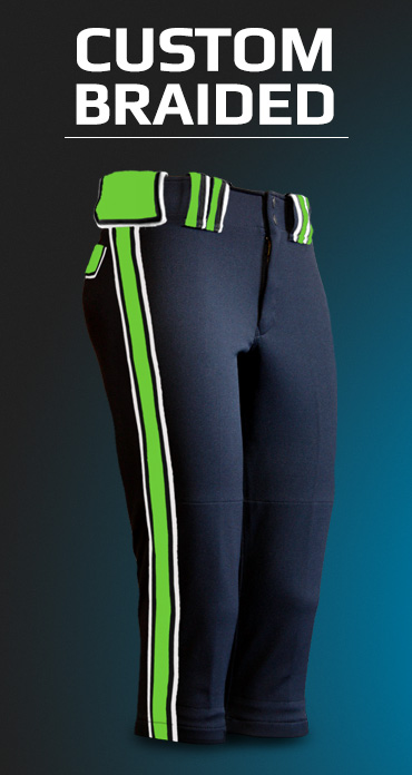 Women's Custom Braided Fastpitch Pants